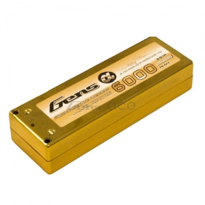 "[젠스에이스] GENS ACE 6000mAh 2S 70C~140C ""GOLD"" Hard Case Lipo Battery ROAR Approved"