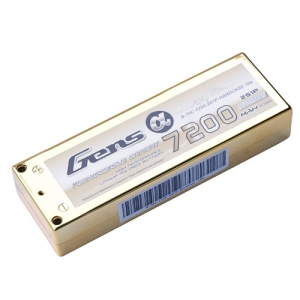 "[젠스에이스] GENS ACE 7200mAh 2S 70C~140C ""GOLD"" Hard Case Lipo Battery ROAR Approved"