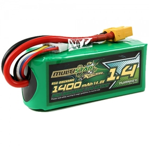 [터니지/멀티스타] MultiStar Race Spec 1400mAh 4S 65C Lipo Pack