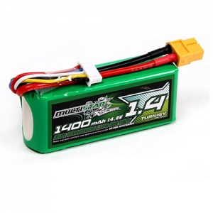 [터니지/멀티스타] MultiStar Race Spec 4S 1400mAh 40-80C Multi-Rotor Lipo Pack For FPV Minis