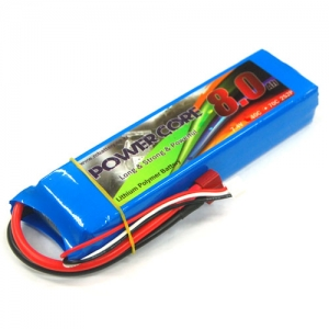 [파워코어] POWER CORE Li-po Battery 7.4v 2S2P 8000mah 40c