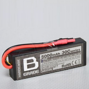 [터니지] Turnigy B-Grade 5000mAh 2S 30C Hard-case Lipoly Battery
