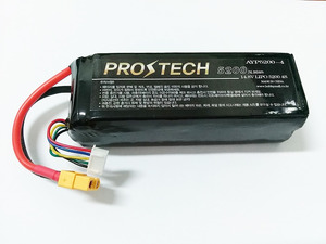[프로테크] 4S 14.8V 5200mAh Multi-Rotor Lipo Pack with XT60 40C